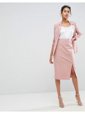 ASOS Mix & Match High Waisted Pencil Skirt With Split