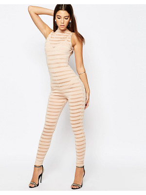 Asos NIGHT Self Stripe Jersey Unitard