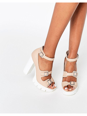 Asos OBVIOUS Chunky Heeled Sandals