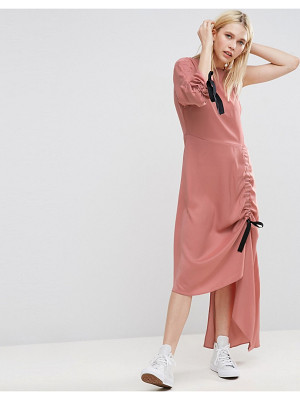 ASOS DESIGN one shoulder maxi dress