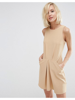 ASOS Origami Mini Rib A Line Dress