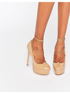 Asos PARTY ALL NIGHT Lace Up Platforms