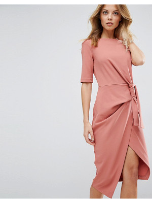 ASOS Pencil Dress With Knot Front Detail