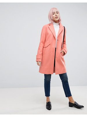 ASOS DESIGN pocket detail coat