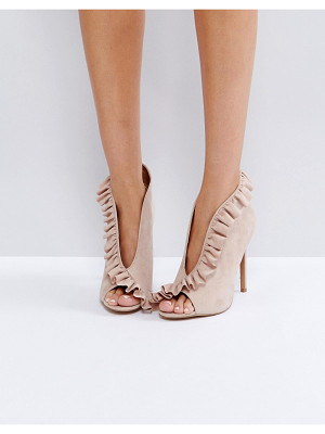 ASOS Port Ruffle Peep Toe High Heels