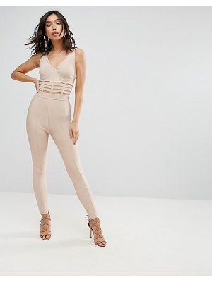 Asos Bandage Jumpsuit with Caged Waist Detail