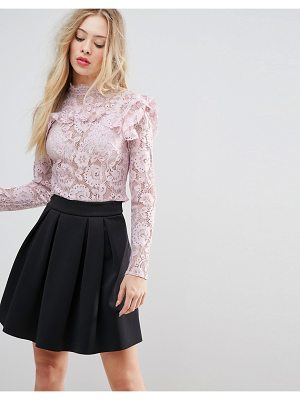 ASOS DESIGN premium lace crop top