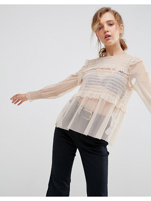 ASOS Premium Smock Top In Mesh