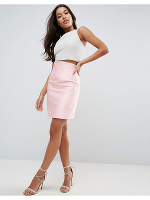 ASOS Premium Structured Satin Skirt With Corset Detail