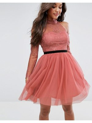 Asos PREMIUM Tulle Cold Shoulder Mini Prom Dress