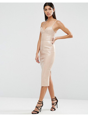 ASOS DESIGN asos pu bodycon dress