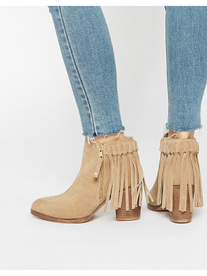 ASOS Rhymes Suede Fringe Ankle Boots