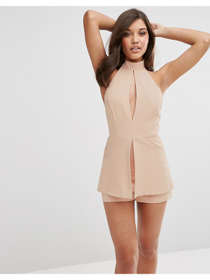 ASOS Romper With Soft Peplum And Keyhole Detail