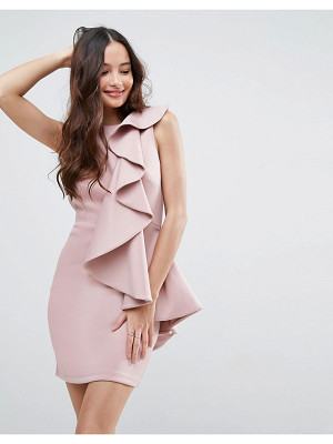 Asos asos ruffle front mini scuba dress