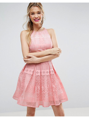 ASOS DESIGN asos salon laser cut mini prom dress