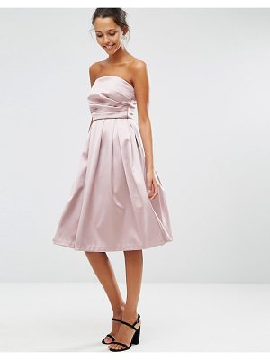 ASOS Satin Bandeau Prom Dress