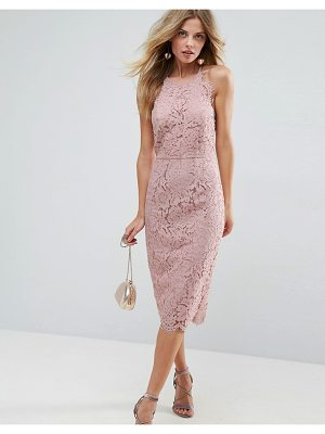 ASOS Scallop Pinny Lace Pencil Midi Dress