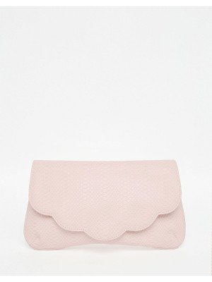 ASOS Scallop Snake Clutch Bag