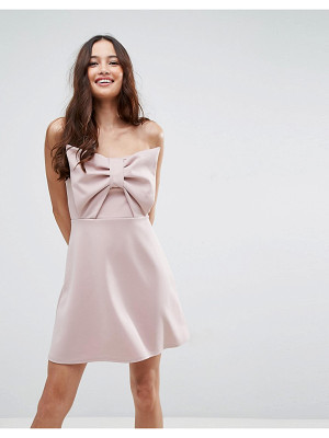 Asos Scuba Bow Front Mini Dress