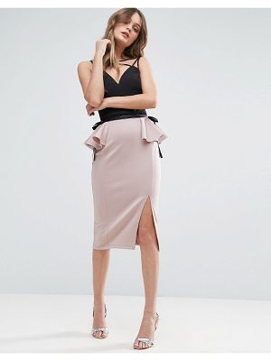 Asos Scuba Pencil Skirt with Peplum Side Detail