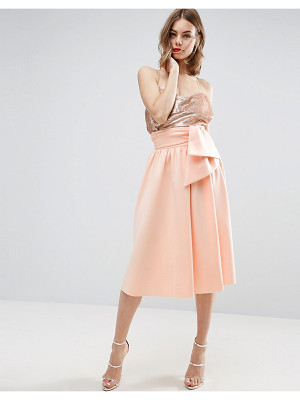 ASOS Scuba Prom Skirt With Tie Waist