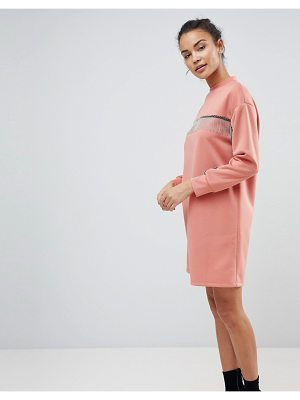ASOS DESIGN asos scuba mini sweat dress with chain detail