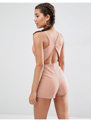 ASOS Sculpt Me Plunge Romper With Back Detail
