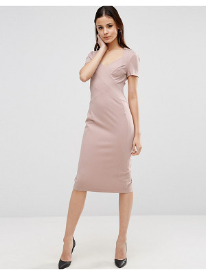 ASOS Sculpt Pencil Dress With Short Sleeve