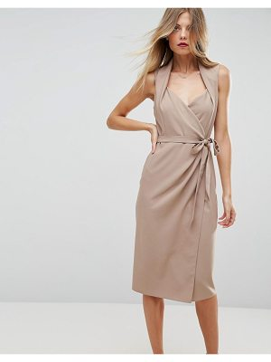 ASOS Shawl Collar Midi Wrap Dress