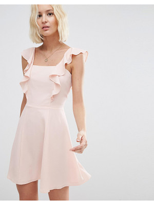 ASOS Skater Dress With Square Neck And Ruffle Detail