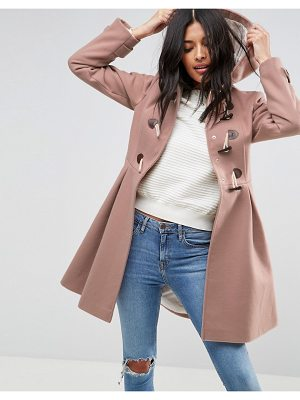 ASOS DESIGN asos skirted duffle coat