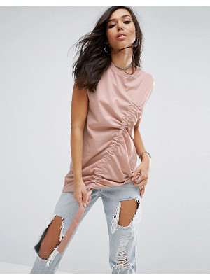 ASOS Sleeveless Oversized T-Shirt With Drawstring Detail
