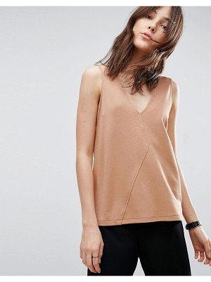 Asos Sleeveless Top in Ponte With Asymmetric Wrap Detail