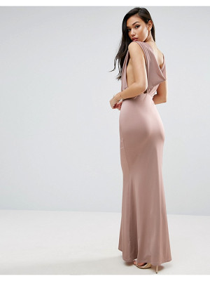 ASOS Slinky Cowl Maxi Dress