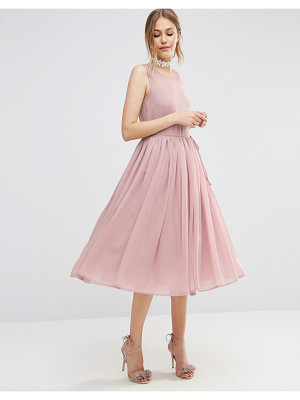ASOS DESIGN asos soft midi prom dress