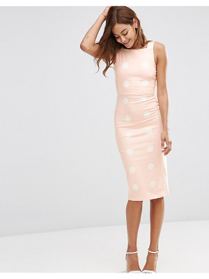 ASOS Spot Pinny Bodycon Midi Dress