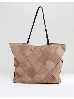 Asos ASOS Suede Weave Shopper Bag