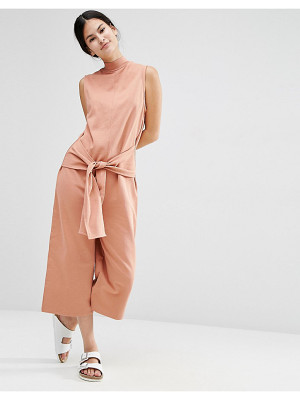 Asos Sweat Jumpsuit with Tie Front