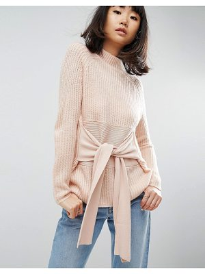 ASOS Sweater With Wrap Corset Detail