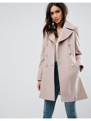 ASOS Swing Coat With Military Style Buttons