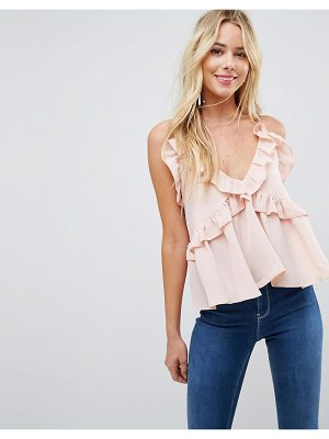 Asos Swing Ruffle Cami with Plunge