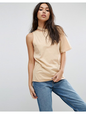 Asos T-Shirt with One Shoulder and Nibble Detail