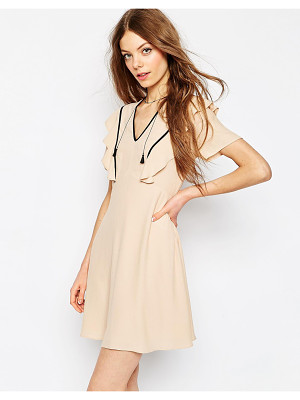 Asos Tea Dress With Ruffle Detail