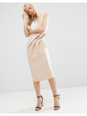 Asos Textured Pencil Skirt with Paperbag Waist