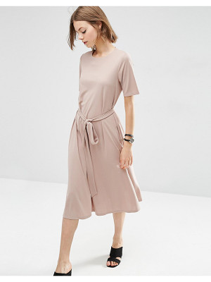 ASOS Tie Front Midi Dress