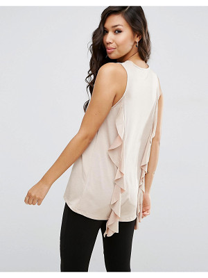 ASOS DESIGN asos top with dip back and ruffle detail