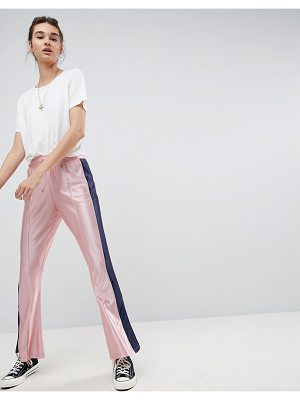 Asos Trackpants with Split Hem and Side Stripe
