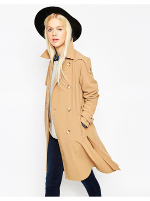 Asos Trench In Bonded Cloth Nudevotion Com