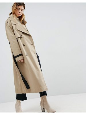 ASOS Trench With Contrast Belt