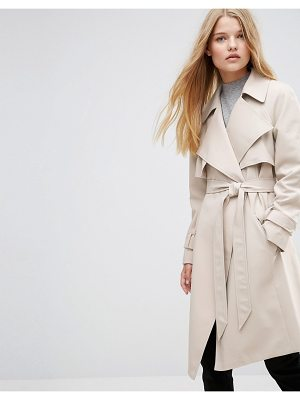 ASOS Trench With Waterfall Detail